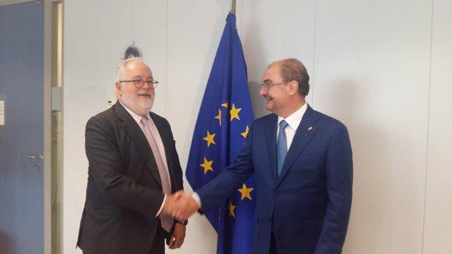 Javier Lambán se reúne con el comisario por el Clima y Energía en la UE