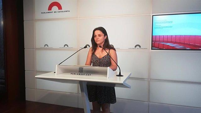 La diputada de la CUP en el Parlament Maria Sirvent