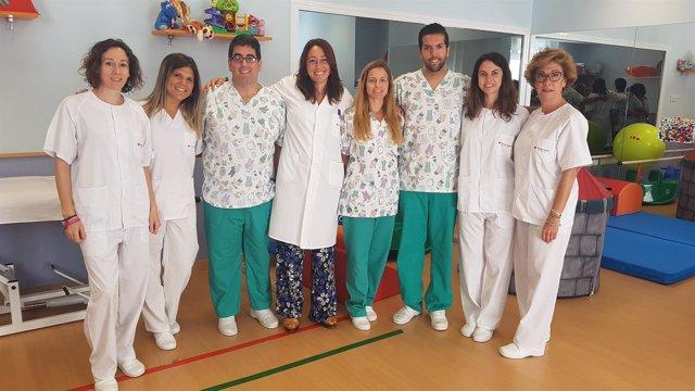 Profesionales del Hospital Victoria Eugenia