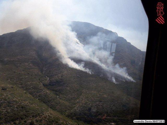 Incendio en el Montgó