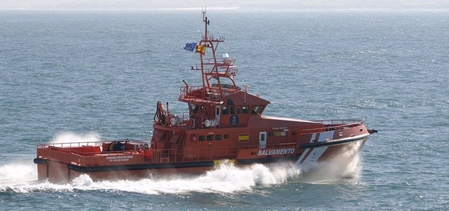 Embarcación de Salvamento Marítimo en el Estrecho