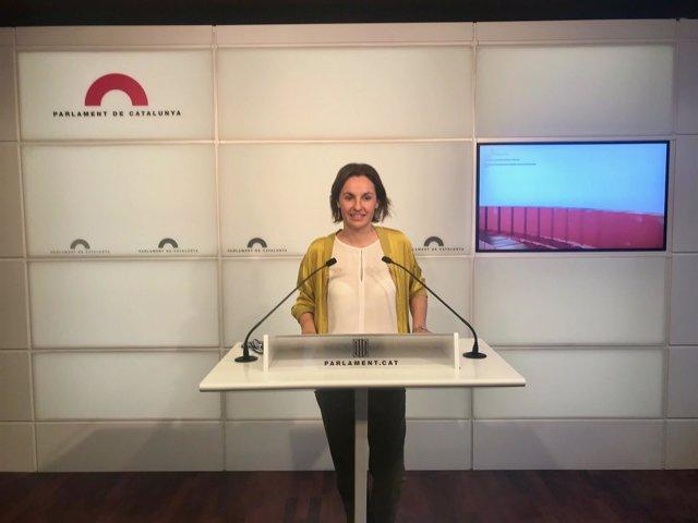 La portavoz de ERC en el Parlament, Anna Caula