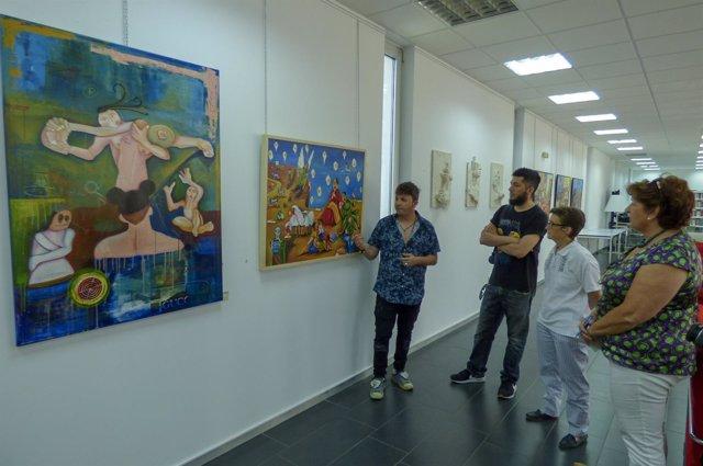Exposición de artistas onubenses en la sede de la UNIA en La Rábida