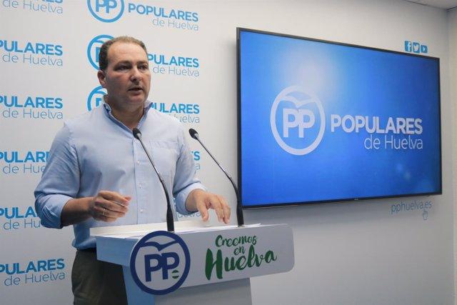 El secretario de Organización del PP de Huelva, David Toscano.