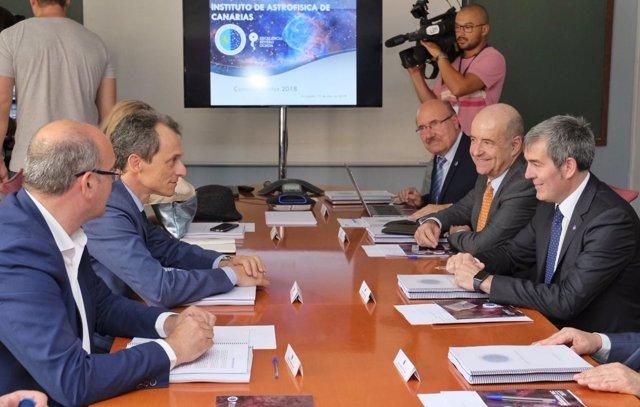 Pedro Duque preside la reunión anual del Consejo Rector del IAC