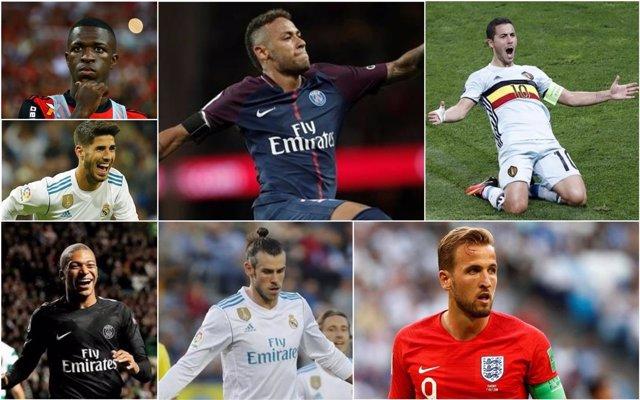 Opciones del Real Madrid: Vinicius, Neymar, Hazard, Asensio, Mbappé, Bale y Kane