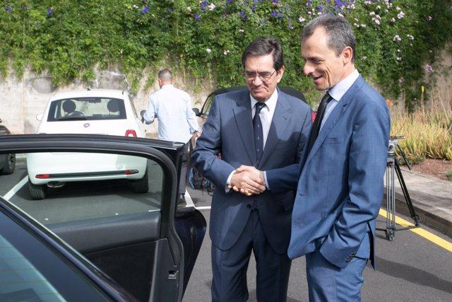 Visita de el ministro de ciencia Pedro Duque a la ULL
