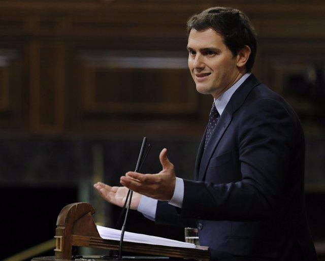 Albert Rivera en el debate de la moción de censura