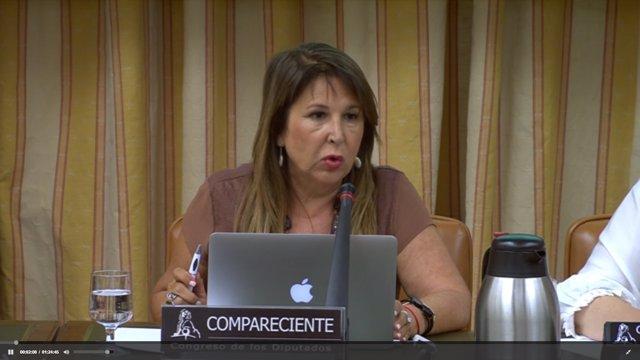 Comparecencia de la presidenta de ACAI, Francisca García, en en el Congreso