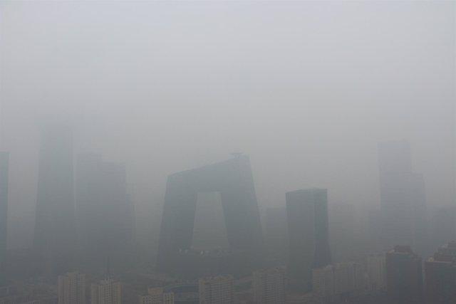 Nube de contaminación en Pekín