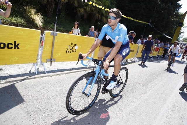 El ciclista del Movistar Mikel Landa en el Tour de Francia 2018
