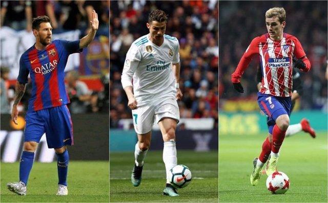 Leo Messi Cristiano Ronaldo Antoine Griezmann