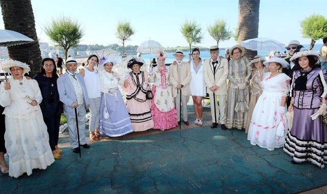 Inauguración de los Baños de Ola en Santander