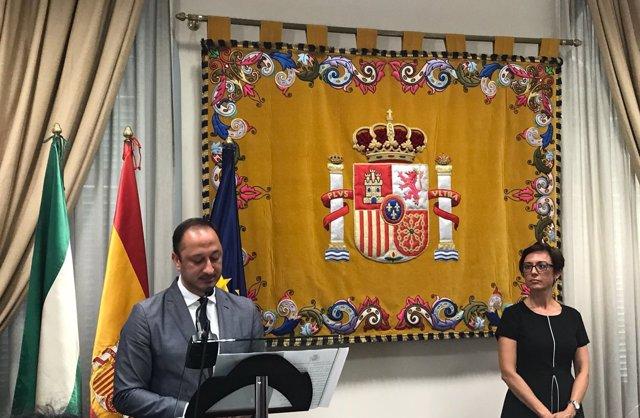 Gómez de Celis y María Gámez, subdelegada en Málaga