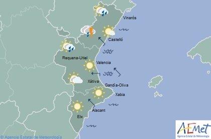 Fuertes tormentas en el interior norte de Castellón y cielos despejados en el resto de la Comunitat