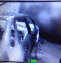 Imagen de incendio en garaje de Logrño con cámara térmica