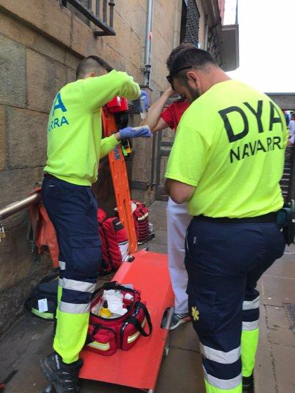 DYA Navarra atiende a seis personas tras el quinto encierro