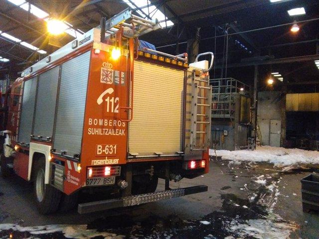 Incendio en una fábrica de Urdiáin