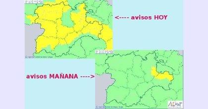 Acumulación de 15 mm/hora en zonas de Burgos, León, Soria y Zamora