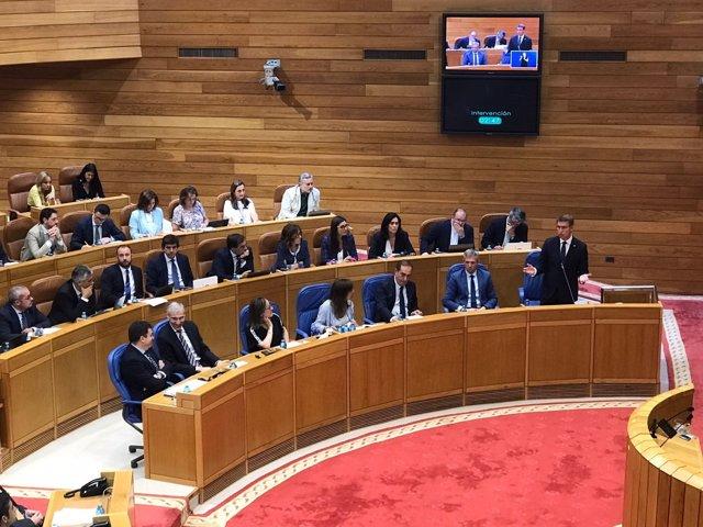 Feijóo en la sesión de control al Gobierno en el Parlamento