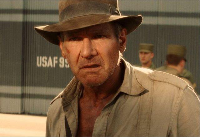 Harrison Ford en Indiana Jones y el reino de la calavera de cristal