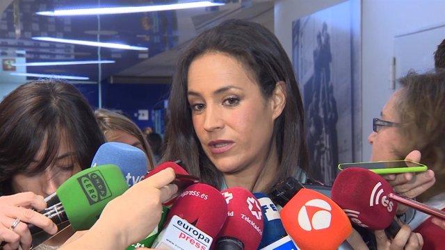 La portavoz de Ciudadanos en Madrid, Begoña Villacís, en un desayuno informativo