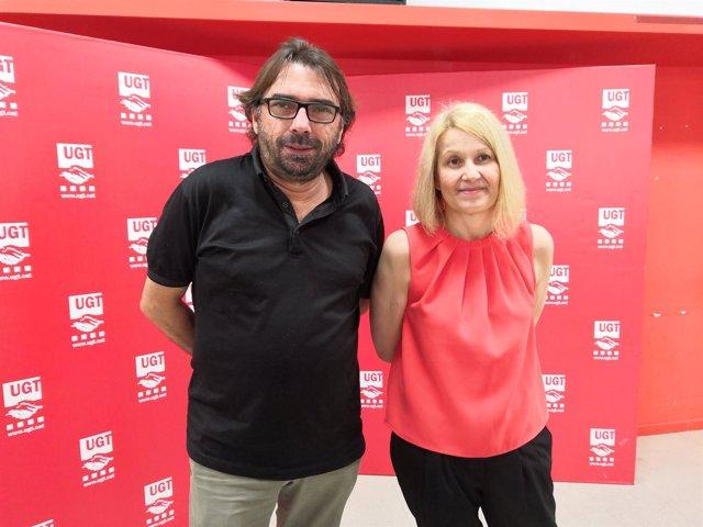 Camil Ros y  María Carmen Barrera (UGT)