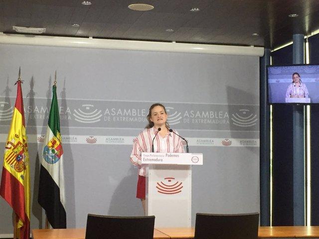 Diputada de Podemos, Jara Romero