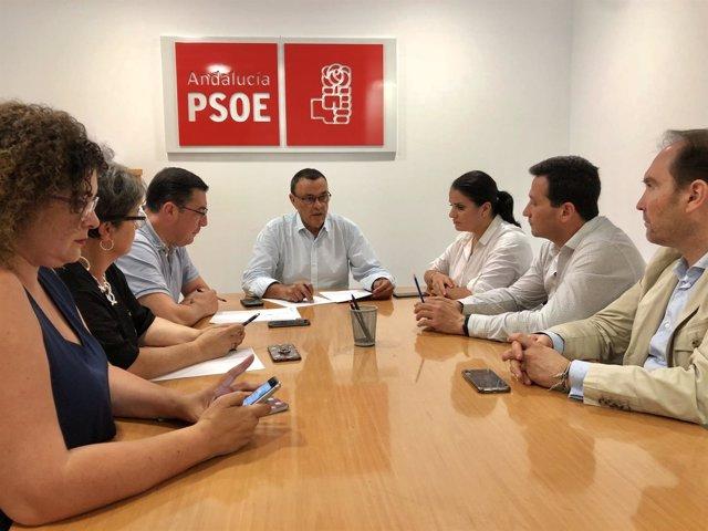 Reunión de la Permanente de la Ejecutiva del PSOE de Huelva.