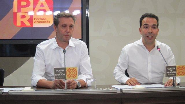 Javier Betorz Y Jesús Guerrero, Del Partido Aragonés