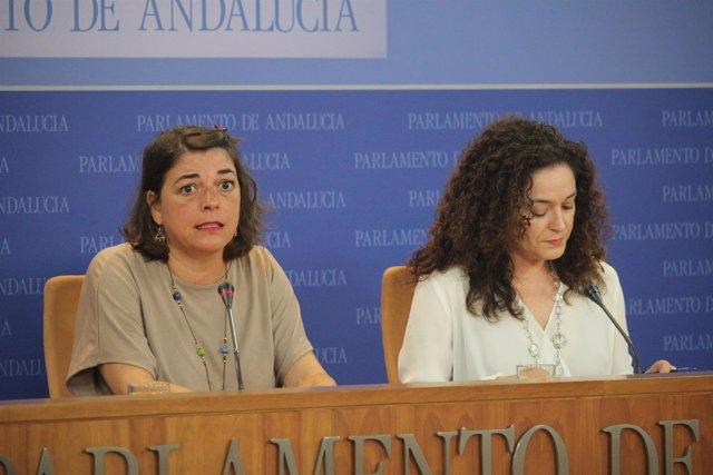 Elena Cortés e Inmaculada Nieto, este miércoles