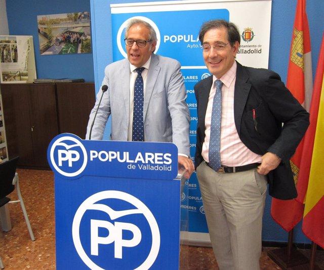Los concejales del PP de Valladolid Martínez Bermejo y Enríquez 11-7-2018