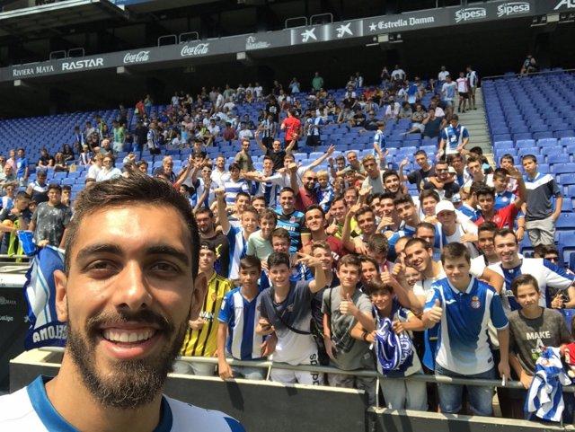 El jugador del RCD Espanyol Boja Iglesias