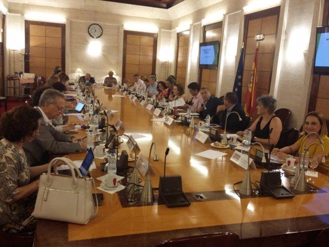 López en la reunión en Madrid