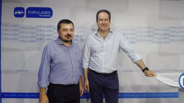 Martín y Molina en la sede del PP de Córdoba