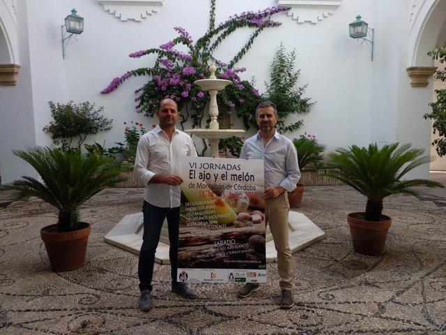 Sánchez (dcha.) y Ruz presenta las VI jornadas del Ajo y el Melón de Montalbán