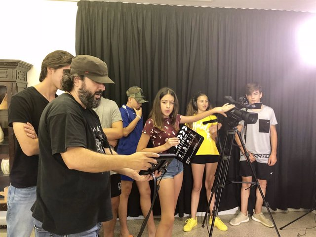 Taller de Cine impartido en el municipio de Alcalá durante el mes de julio.