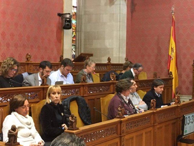 Los consellers de Cs en el pleno del Consell