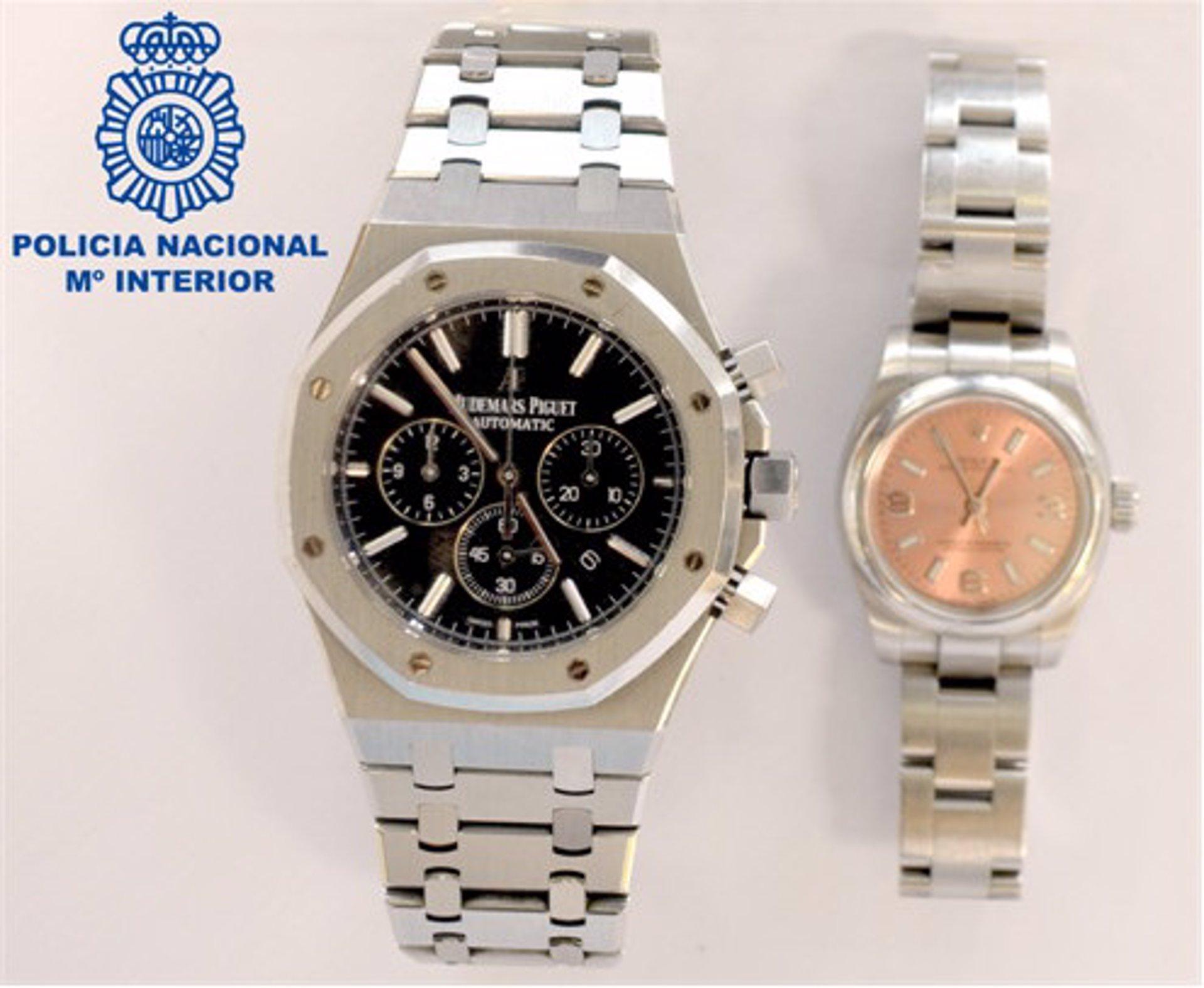La Policía Nacional recupera en Ibiza dos relojes de alta gama sustraídos por una banda criminal