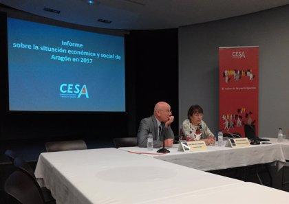 Aragón crece un 3% y alcanza un PIB récord de 36.000 millones de euros en 2017, según el informe del CESA