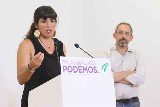 Teresa Rodríguez, este miércoles