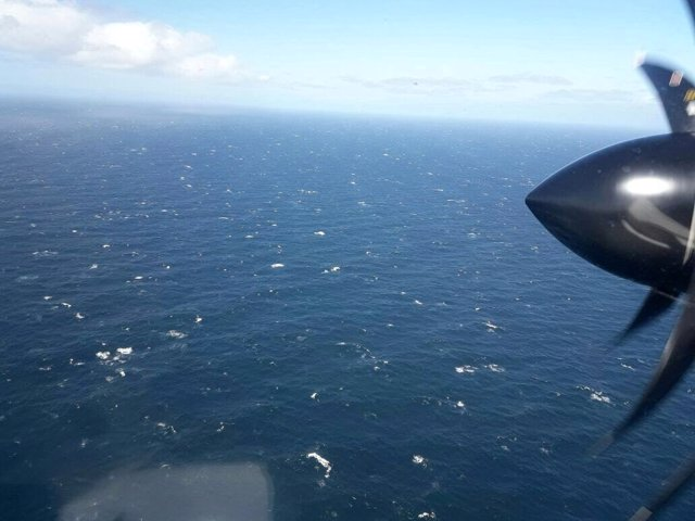 Un avión de la Armada argentina buscando al submarino 'San Juan' en el Atlántico