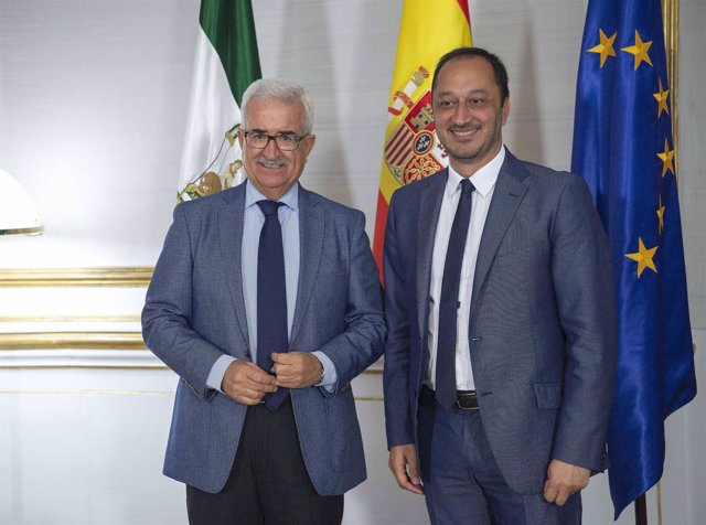 Manuel Jiménez Barrios y Alfonso Gómez de Celis, este miércoles