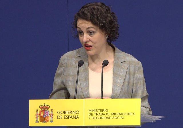 La ministra de Trabajo,Magdalena Valerio
