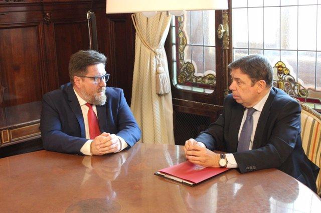 Sánchez Haro reunido con el ministro de Agricultura, Luis Planas