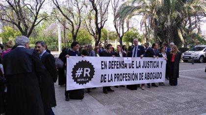 Concentración de abogados este jueves en Sevilla en defensa de la justicia gratuita y la dignificación de la profesión