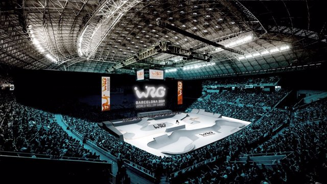 Imagen virtual del recinto de los World Roller Games 2019