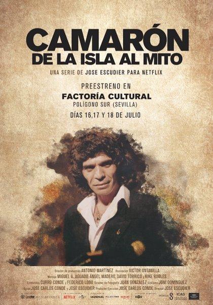 El verano de Factoría Cultural arranca en Sevilla con el preestreno de la serie 'Camarón, de la Isla al mito'