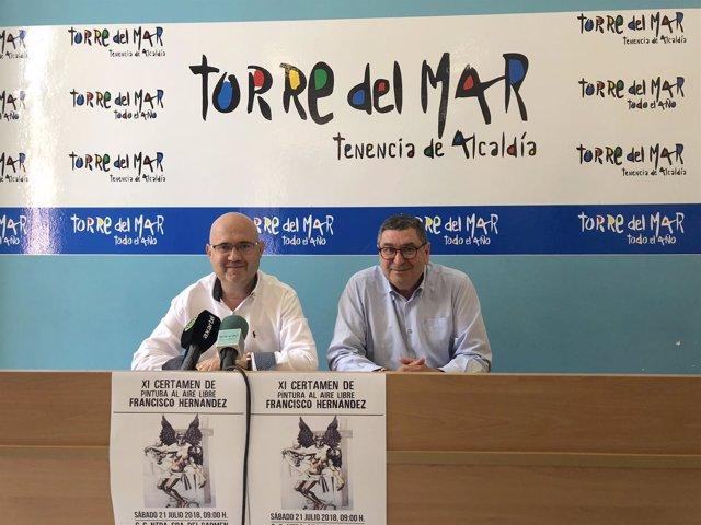 Moreno ferrer alcalde de velez y perez atencia concejal torre del mar