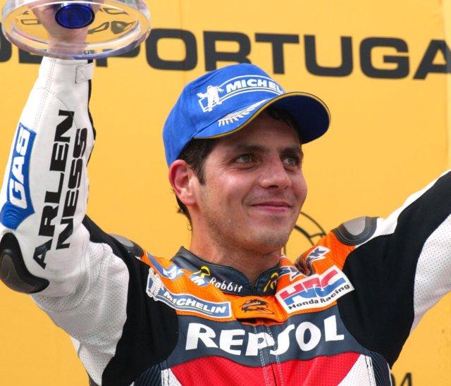 El piloto brasileño de 500cc y MotoGP Álex Barros